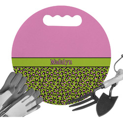 Pink & Lime Green Leopard Gardening Knee Cushion (Personalized)