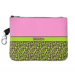 Pink & Lime Green Leopard Golf Accessories Bag (Personalized)