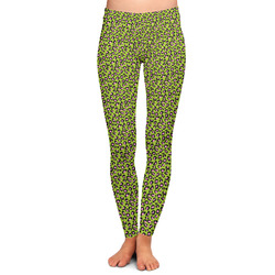 Pink & Lime Green Leopard Ladies Leggings (Personalized)
