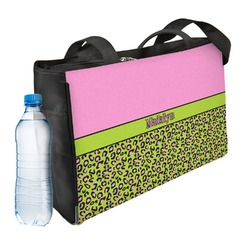 Pink & Lime Green Leopard Ladies Workout Bag (Personalized)