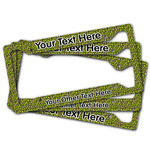 Pink & Lime Green Leopard License Plate Frame (Personalized)