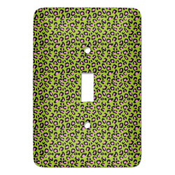 Pink & Lime Green Leopard Light Switch Covers (Personalized)