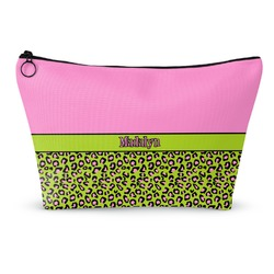 Pink & Lime Green Leopard Makeup Bags (Personalized)