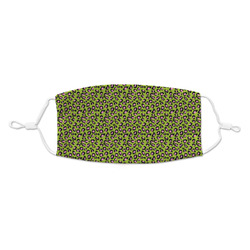 Pink & Lime Green Leopard Kid's Cloth Face Mask (Personalized)