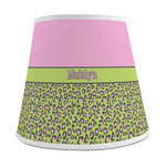 Pink & Lime Green Leopard Empire Lamp Shade (Personalized)
