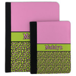 Pink & Lime Green Leopard Padfolio Clipboard (Personalized)
