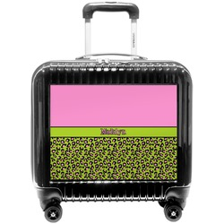 Pink & Lime Green Leopard Pilot / Flight Suitcase (Personalized)