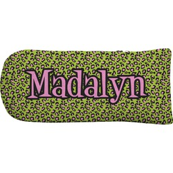 Pink & Lime Green Leopard Putter Cover (Personalized)