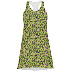 Pink & Lime Green Leopard Racerback Dress (Personalized)
