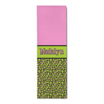 Pink & Lime Green Leopard Runner Rug - 3.66'x8' (Personalized)