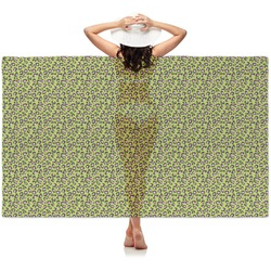 Pink & Lime Green Leopard Sheer Sarong (Personalized)