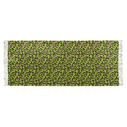 Pink & Lime Green Leopard Faux Pashmina Scarf (Personalized)
