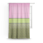 Pink & Lime Green Leopard Sheer Curtains (Personalized)