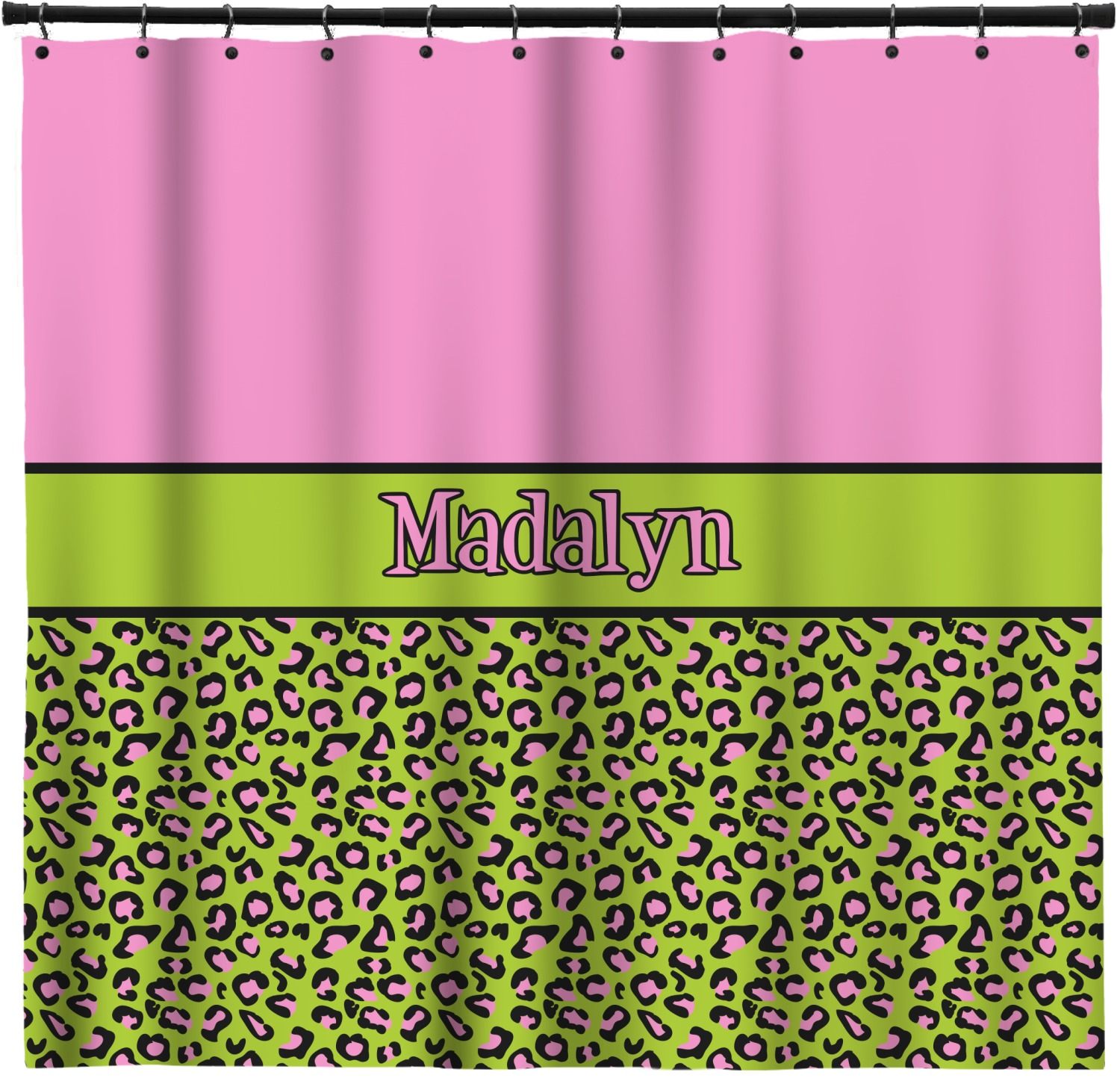 Pink Lime Green Leopard Shower Curtain 69 X70 Personalized Youcustomizeit