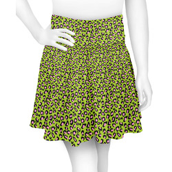 Pink & Lime Green Leopard Skater Skirt (Personalized)