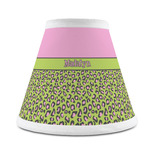 Pink & Lime Green Leopard Chandelier Lamp Shade (Personalized)