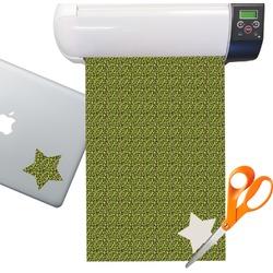 Pink & Lime Green Leopard Sticker Vinyl Sheet (Permanent)