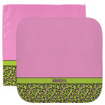 Pink & Lime Green Leopard Facecloth / Wash Cloth (Personalized)