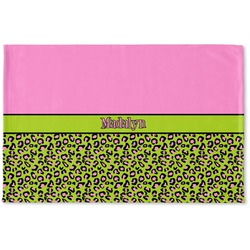 Pink & Lime Green Leopard Woven Mat (Personalized)