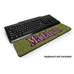 Pink & Lime Green Leopard Keyboard Wrist Rest (Personalized)