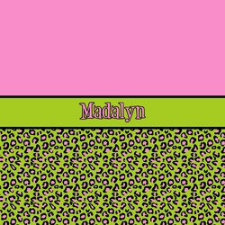 Pink & Lime Green Leopard