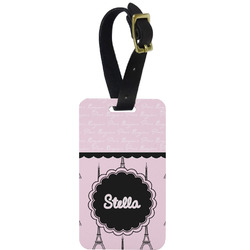 Paris & Eiffel Tower Aluminum Luggage Tag (Personalized)