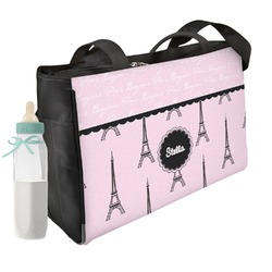 Paris & Eiffel Tower Diaper Bag w/ Name or Text