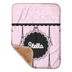 "Paris & Eiffel Tower Sherpa Baby Blanket 30"" x 40"" (Personalized)"