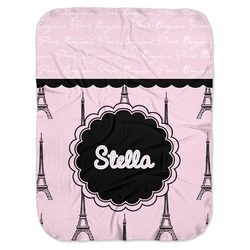 Paris & Eiffel Tower Baby Swaddling Blanket (Personalized)
