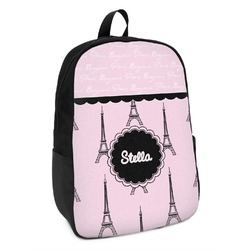 Paris & Eiffel Tower Kids Backpack (Personalized)