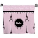 Paris & Eiffel Tower Full Print Bath Towel (Personalized)