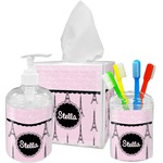 Paris & Eiffel Tower Bathroom Accessories Set (Personalized)