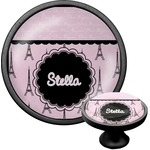 Paris & Eiffel Tower Cabinet Knob (Black) (Personalized)