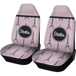 Paris & Eiffel Tower Car Seat Covers (Set of Two) (Personalized)