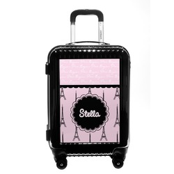 Paris & Eiffel Tower Carry On Hard Shell Suitcase (Personalized)