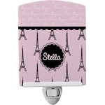 Paris & Eiffel Tower Ceramic Night Light (Personalized)
