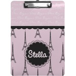 Paris & Eiffel Tower Clipboard (Personalized)