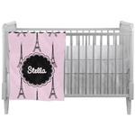 Paris & Eiffel Tower Crib Comforter / Quilt (Personalized)