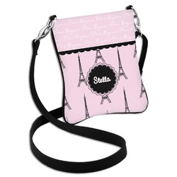 Paris & Eiffel Tower Cross Body Bag - 2 Sizes (Personalized)