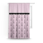 Paris & Eiffel Tower Curtain (Personalized)