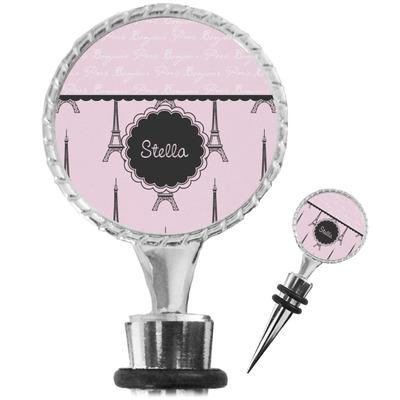Paris & Eiffel Tower Wine Bottle Stopper (Personalized)