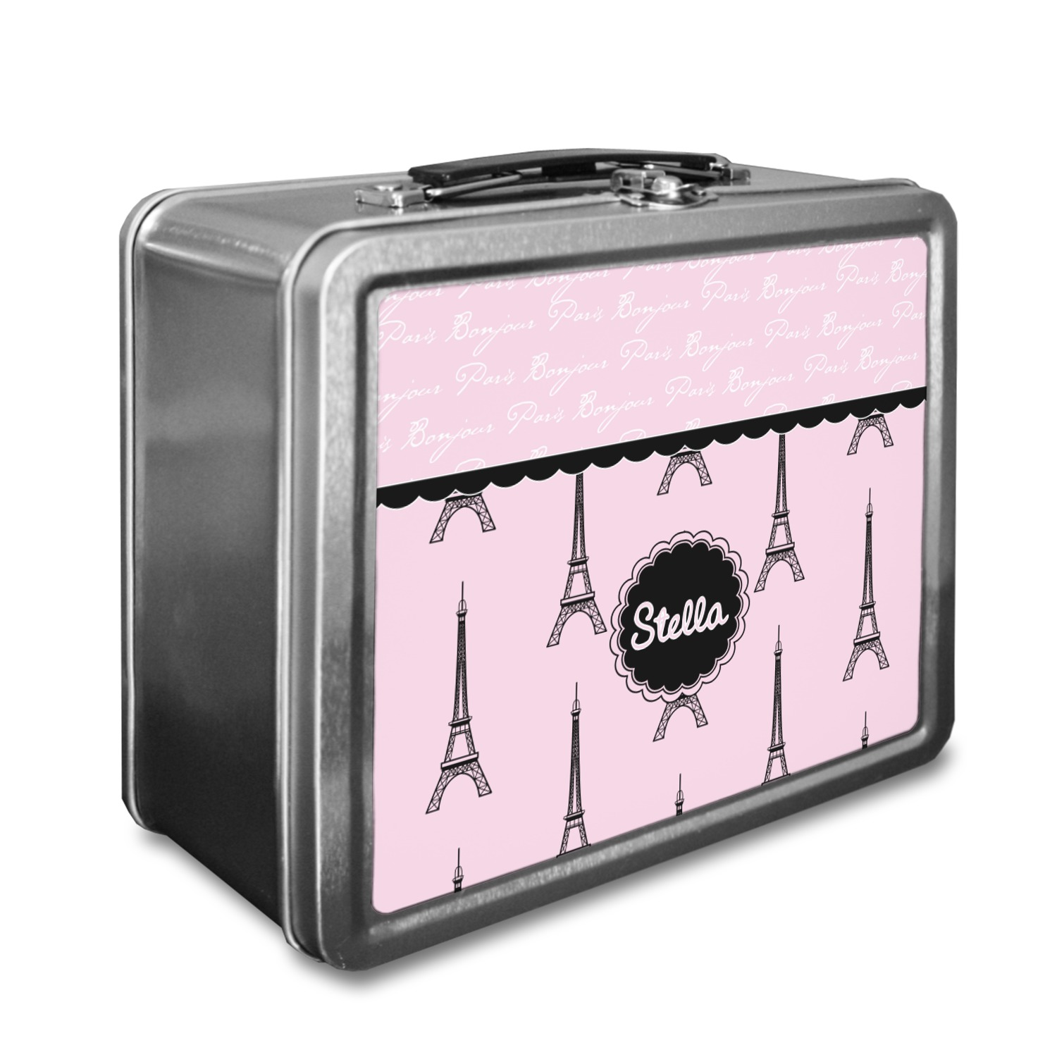 Metal Lunch Tin Part - 34: Paris U0026 Eiffel Tower Lunch Box (Personalized)