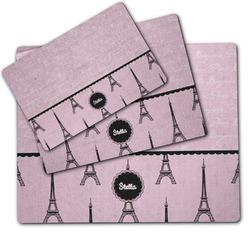 Paris & Eiffel Tower Dog Food Mat w/ Name or Text