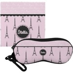 Paris & Eiffel Tower Eyeglass Case & Cloth (Personalized)