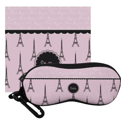 Paris & Eiffel Tower Eyeglass Case & Cloth (Personalized)