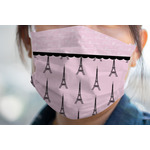 Paris & Eiffel Tower Face Mask Cover (Personalized)