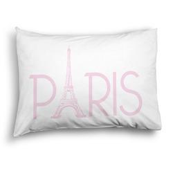Paris & Eiffel Tower Pillow Case - Standard - Graphic (Personalized)
