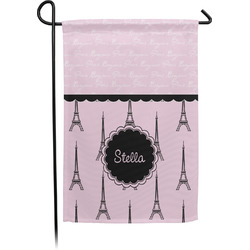 Paris & Eiffel Tower Garden Flag - Single or Double Sided (Personalized)