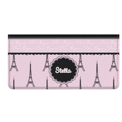 Paris & Eiffel Tower Genuine Leather Checkbook Cover (Personalized)