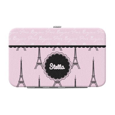Paris & Eiffel Tower Genuine Leather Small Framed Wallet (Personalized)
